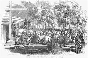 Camp Meeting, 1852 Photograph by Granger