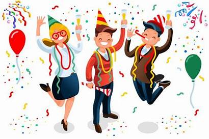 Celebrating Cartoon Clipart Bash Celebration Birthday Characters