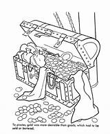 Coloring Treasure Chest Open Colouring Pages Printable Popular sketch template