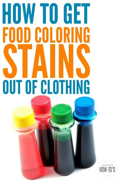 food coloring stains   clothing   stains