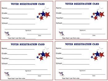 voter registration cards  students  amy bray tpt