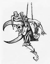 Jester sketch template