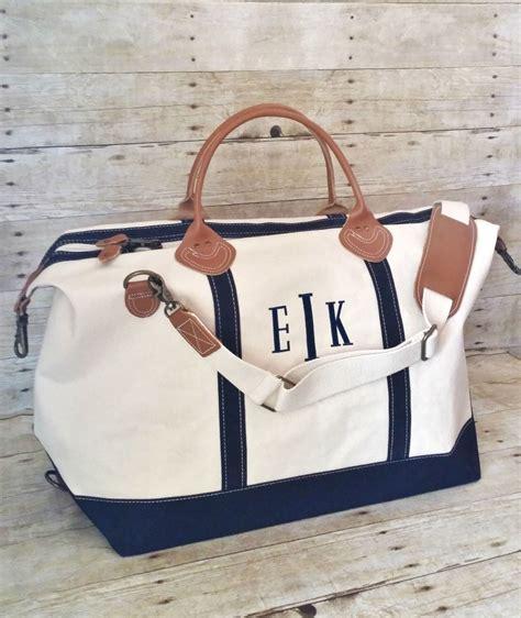 monogram weekender bag monogrammed canvas leather