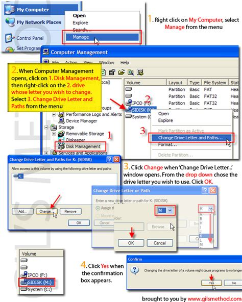 how to change drive letter how to change drive letters in windows xp 33793