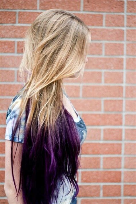 Purple Ombre Hair Except The Blonde Is Going To Be Black