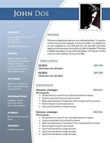Word Resume Template Cv Templates For Word Doc 632 638 Freecvtemplate Org