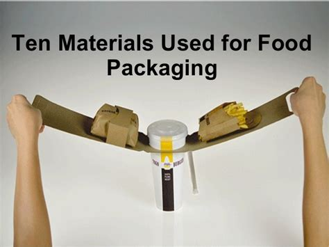 Ten Materials That Can Be Used For Food Packaging