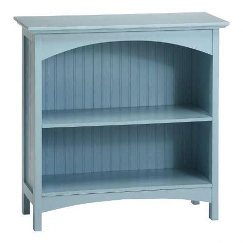 Light Blue Bookcase by Light Blue Beadboard 2 Shelf Bookcase Tree
