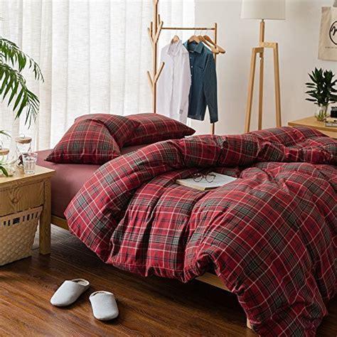 plaid duvet comforter bedding cotton king flannel luxury queen grid boys pattern sets lightweight shams pc soft piece covers comforters