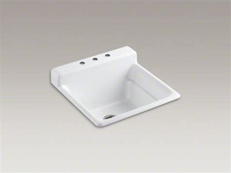 kitchen sinks used kohler bayview tm top mount utility sink with 3 faucet 5641