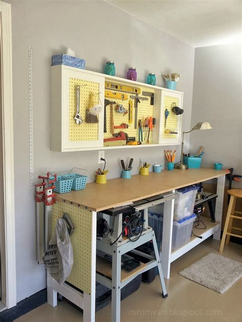ana white pegboard cabinet  simple workbench