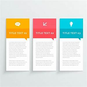 Three Simple Infographic Banners With Different Colors