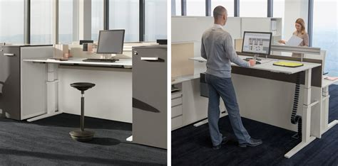 standing conference t lift desk bene office furniture