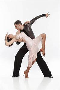 Beautiful Couple In The Active Ballroom Dance Stock Image ...