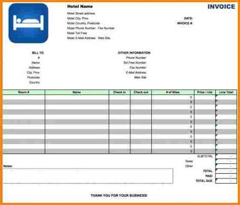 5 hotel bill format in excel free simple bill