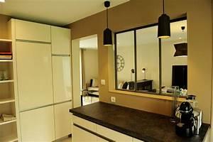 cuisine photo 1 6 cuisine avec verriere With cuisine avec verriere interieur
