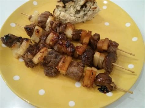 anguille cuisine beef and pineapple kebabs anguilla recipe genius kitchen