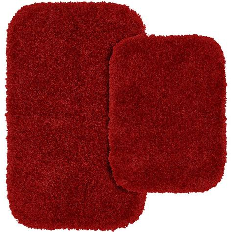 garland rug serendipity chili pepper red      washable bathroom  piece rug set ser