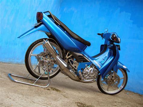 Modif Suzuki Smash 2005 by Suzuki Smash Modifikasi Racing Thecitycyclist