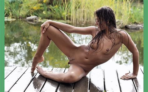 wallpaper brunette meat curtains pussy water small tits dominika c nature outdoor