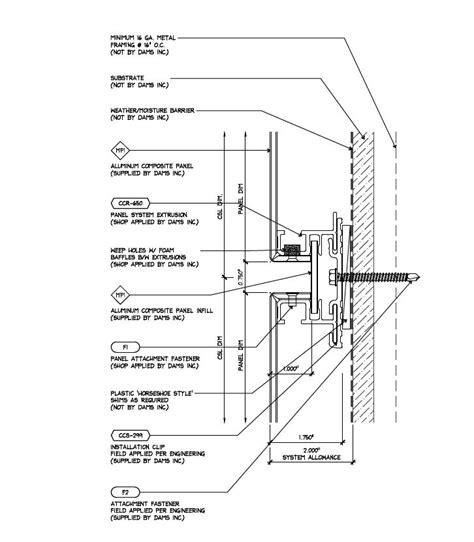 rainscreen acm panel system details paineis de aco fachada aco corten