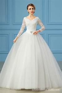 cheap ball gown winter wedding dress with long lace With cheap winter wedding dresses