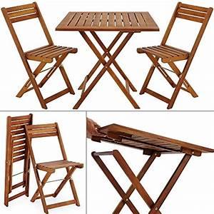 Table De Balcon Pliante : salon de jardin 2 chaises 1 table pliantes bois huil ~ Melissatoandfro.com Idées de Décoration