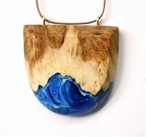 Resin and wood jewelry by britta boeckmann encapsulates for Resin and wood jewelry by britta boeckmann encapsulates crashing ocean waves
