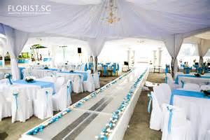 wedding gazebo decor blue wedding theme labrador park of national park board florist sg