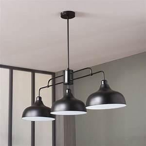 Suspension Pour Cuisine Moderne : luminaire industriel suspension suspension luminaire rouge ~ Teatrodelosmanantiales.com Idées de Décoration