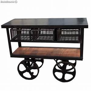 Camarera Carro Hostelería bar carros estilo vintage industrial