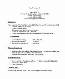 Resume Sample For College Students With No Experience Student Resume Example 7 Samples In Word Pdf