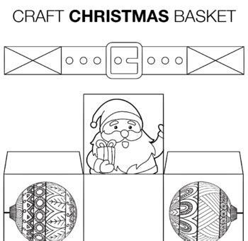christmas basket template christmas craft activity