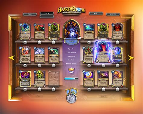 top tier decks hearthstone standard dribbble hearthstone deck app2 png by steve fraschini
