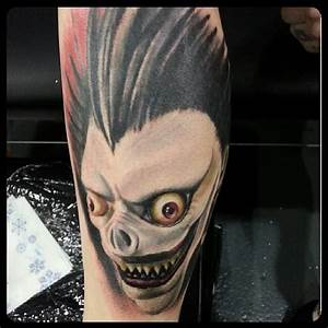 10 Chilling Death Note Tattoos of Ryuk The Shinigami ...