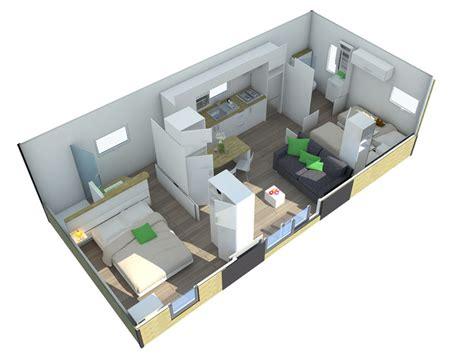 chambre parentale avec salle de bain location résidence taos 2 ch 4 pers 37m