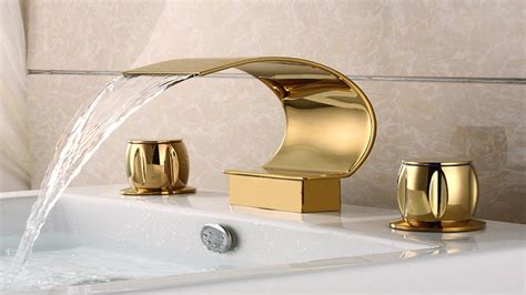 sink faucet shiny gold contemporary bathroom faucets