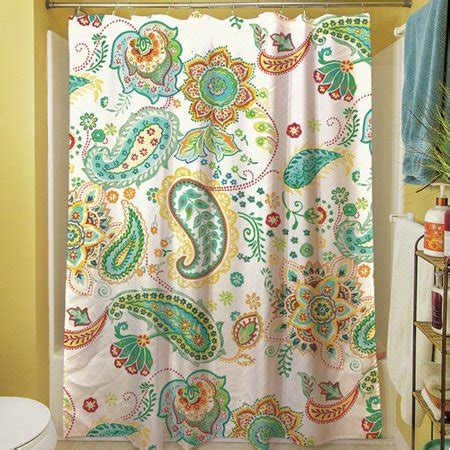 paisley shower curtain manual woodworkers weavers aqua bloom paisley shower