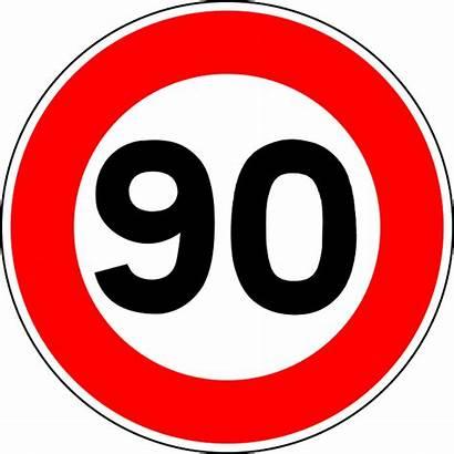 90 Sign Road Speed Culver Limit Vector