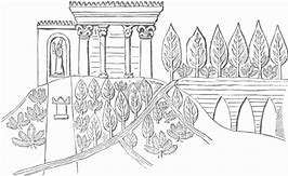 HD Wallpapers Coloring Page Hanging Gardens Babylon