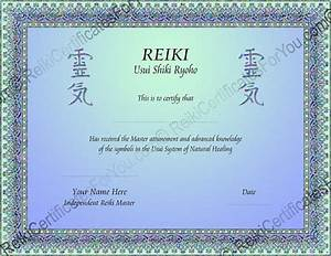 2 color knotwork reiki certificate template landscape for Reiki certificate template free download