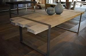 Table A Manger Industrielle : mod le table a manger industrielle acier et bois tables ~ Melissatoandfro.com Idées de Décoration