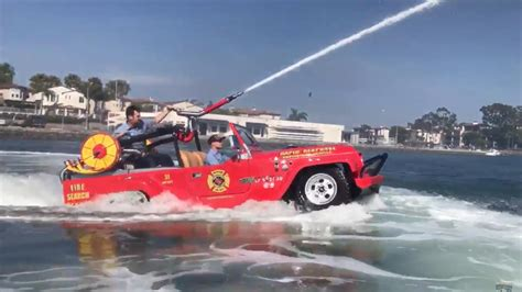 hibious rescue vehicle cannon equipped amphibious watercar is cool way to put out