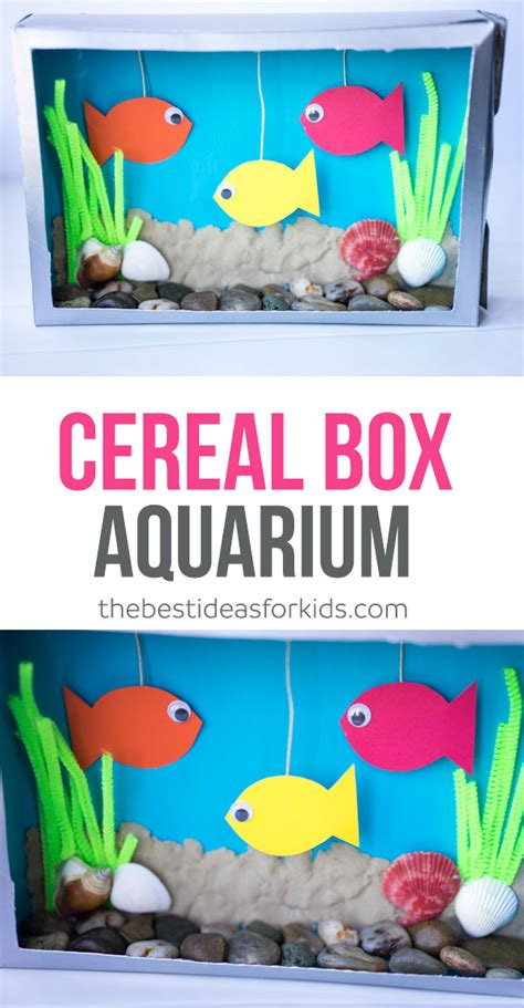 cereal box crafts for preschoolers cereal box aquarium the best ideas for 994