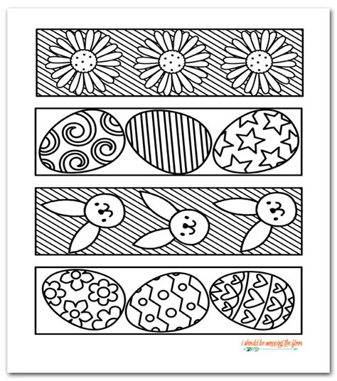 bookmarks to color free printable easter coloring bookmarks printables
