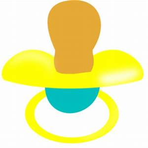Yellow And Blue Pacifier Clip Art at Clker.com - vector ...