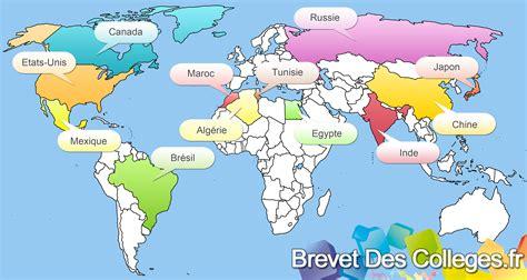 Carte Des Pays Du Monde by Carte De Tout Les Pays Du Monde