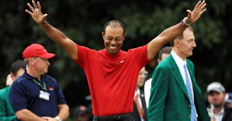 Tiger Woods Celebrates Masters Win With Girlfriend Erica ...