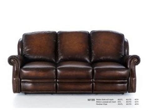 leather recliner  nailhead trim foter