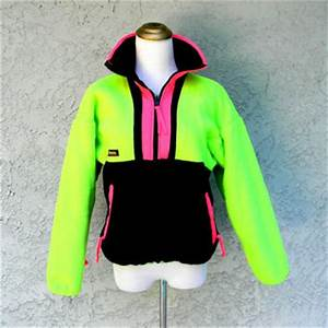 Neon Fleece Jacket Vintage 80s 90s from Dayglodiva